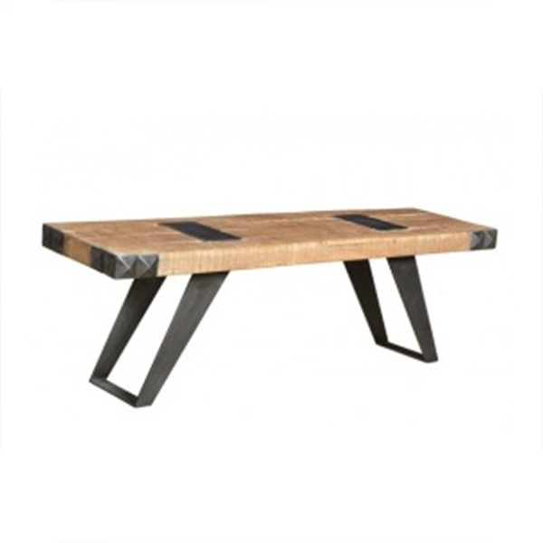 WOOD & IRON DINING TABLE LARGE