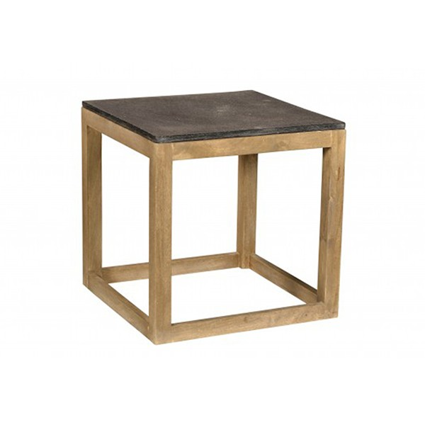 WOOD & STONE END TABLE