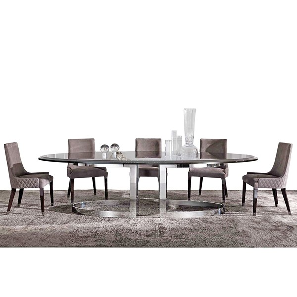MARBLE DINING TABLE WITH 5 SEATER